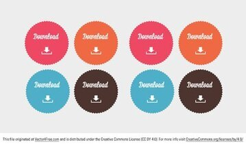 Free Download Button Vectors