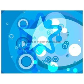 STARS AND CIRCLES RETRO VECTOR ART.ai