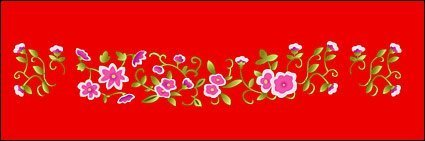 Classical Chinese lucky little flower