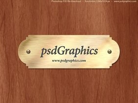 Gold nameplate PSD template