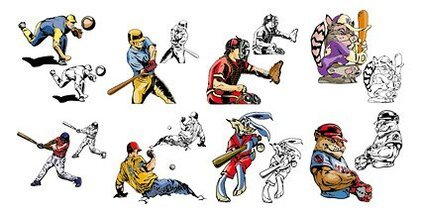 Baseball-Cartoon-Stil