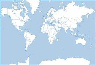 Sketch map of the world