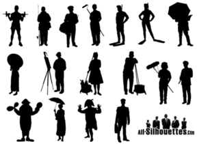 Working People Silhouette Vector Free