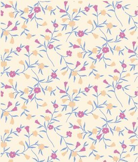 Cluttered background of the morning glory pattern vector mat