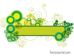 Green Abstract Floral Banner Design