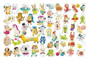 Vector variety of cute animals