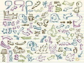 Vector Elements Of A Collection Of Handpainted 1