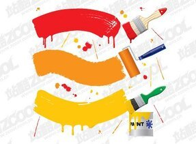 Vector paint material