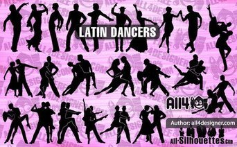 22 bailarines latinos de vector