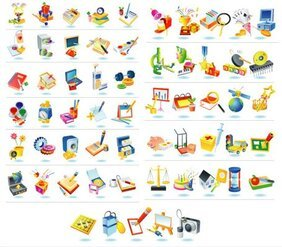 South Korea Vector Icons material selection