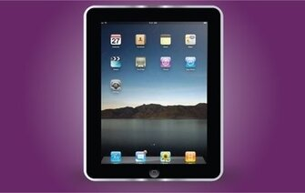 Apple Black iPad Frame