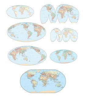 Vector World Map of various