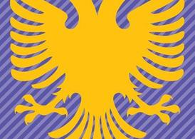 Albanien Flagge Double Headed Eagle