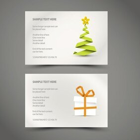 Christmas Card Vector Template (Free)