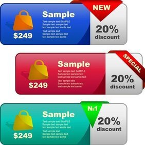 Discount Sales Decorative Button