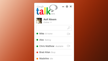 Google Talk konceptdesign PSD