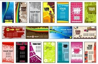 18 Vector Variety of Practical Card Background Templates