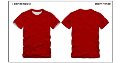 T-shirt template front and back