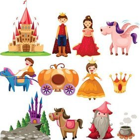 Cute cartoon fairy tale image of the 02