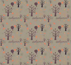 Free Autumn Tree Vector Pattern