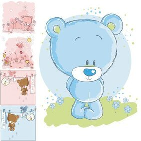 Cute cartoon bear