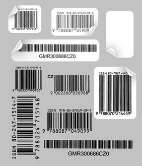 Creativo e pratico Bar Code Label vettoriale 1
