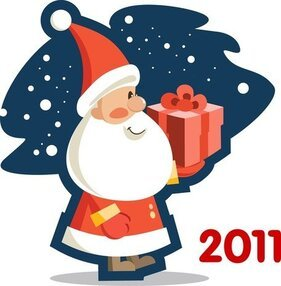 Vector Cute Santa Claus 2011