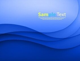 Abstract Blue Wave Design Vector Illustration Background