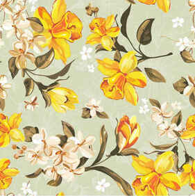 Yellow flowers pattern