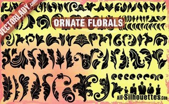 112 Ornate Vector Florals
