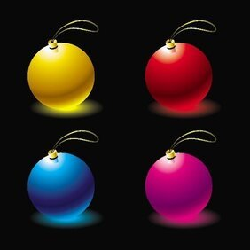 CHRISTMAS BALLS VECTOR.eps