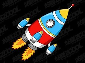 Cartoon-style rocket
