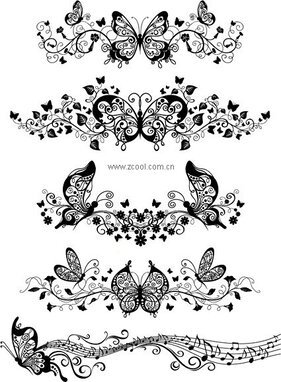 Beautiful butterfly pattern