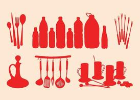 Kitchenware Silhouettes Set