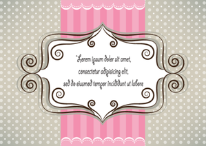 Lovely Pink and Gray Card Design Vector Free