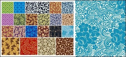 22, Continental classical pattern tiled background material