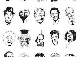Sketchy Faces Vectors