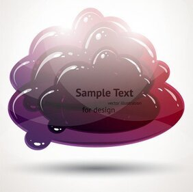 Kristal heldere Graphics Vector 5 Cloud