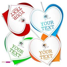 Exquisite Valentine's Day greeting card vector-2