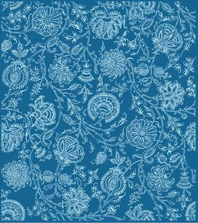 Flower pattern background material vector lines
