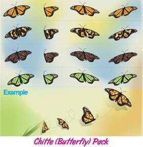 Papillon gratuit Vector Pack