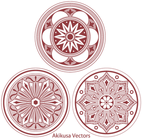 Classic Medallion Ornament Vector Free