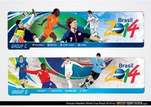 Brazil 2014 World Cup Headers
