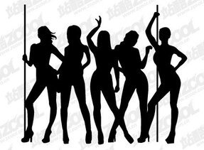Female dancer silhouette