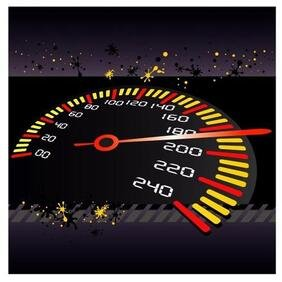 SPEED METER VECTOR ILLUSTRATION.eps