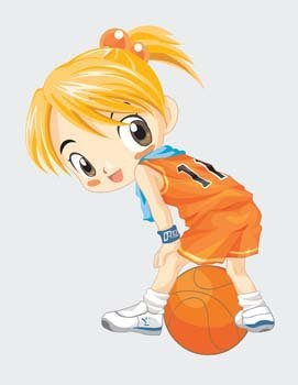Basketbal sport vector 4