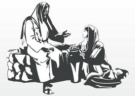Jesus And Woman