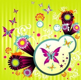 Lively style, butterflies and pattern