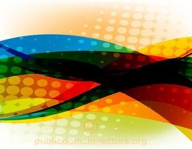 Colorful Abstract Vector Background with Halftone Element
