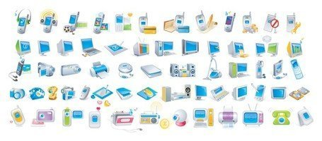 Digital Technology Icons